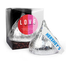 Personalized Valentine's Day Color Block Love 12oz Giant Hershey's Kiss