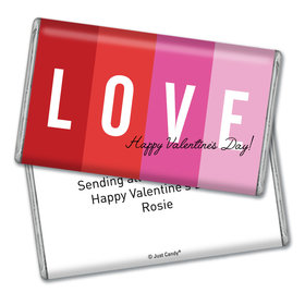Personalized Valentine's Day Color Block Love Giant 1lb Hershey's Chocolate Bar