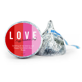Personalized Valentine's Day Color Block Love 7oz Giant Hershey's Kiss