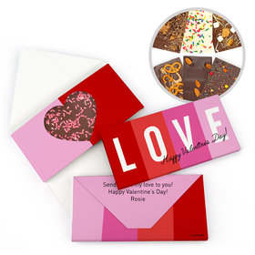 Personalized Color Block Love Valentine's Day Gourmet Infused Belgian Chocolate Bars (3.5oz)
