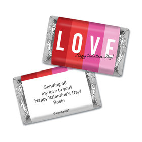 Personalized Valentine's Day Color Block Love Hershey's Miniatures Wrappers