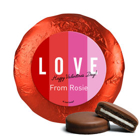 Personalized Valentine's Day Color Block Love Milk Chocolate Covered Oreos