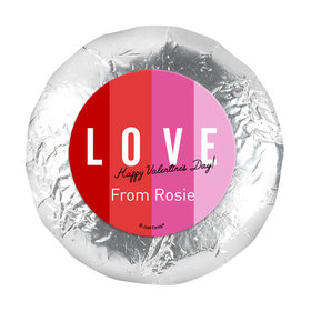 "Personalized Valentine's Day Color Block Love 1.25"" Stickers (48 Stickers)"