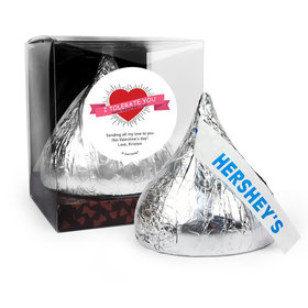 Personalized Valentine's Day I Tolerate You 12oz Giant Hershey's Kiss