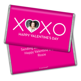 Personalized Valentine's Day XOXO Add Your Photo Giant 1lb Hershey's Chocolate Bar