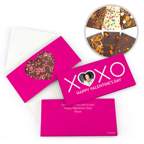 Personalized XOXO Valentine's Day Gourmet Infused Belgian Chocolate Bars (3.5oz)