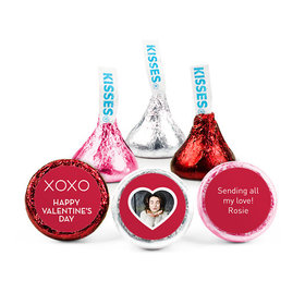 Personalized Valentine's Day XOXO Add Your Photo Hershey's Kisses (50 pack)