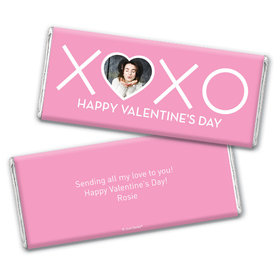 Personalized Valentine's Day XOXO Hershey's Chocolate Bar & Wrapper