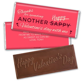 Personalized Valentine's Day Happy Sappy Valentines Hershey's Embossed Chocolate Bar & Wrapper