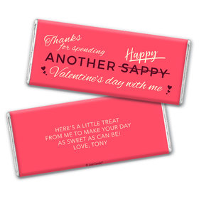 Personalized Valentine's Day Happy Sappy Valentines Hershey's Chocolate Bar & Wrapper