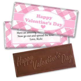 Personalized Valentine's Day Country Love Hershey's Embossed Chocolate Bar & Wrapper