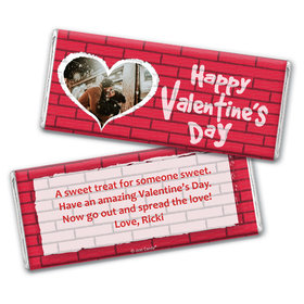 Personalized Valentine's Day Grafitti Valentine Chocolate Bar Wrappers Only