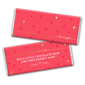 Personalized Valentine's Day Thoughtful I Love You Hershey's Chocolate Bar Wrapper