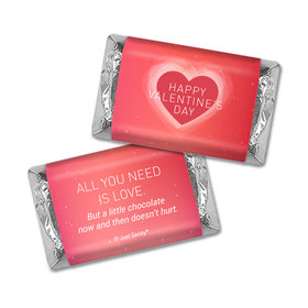 Personalized Valentines Dreamy Heart Mini Wrappers Only