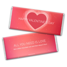 Personalized Valentine's Day Dreamy Heart Hershey's Chocolate Bar & Wrapper