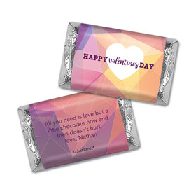 Personalized Valentines Kaleidoscope Heart Mini Wrappers Only