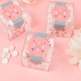 Valentine's Day Love is an Adventure Sweet Candy Cube Favors with Smarties
