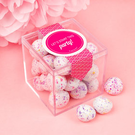 Personalized Valentine's Day Sweet Candy Cube Favors with Premium Confetti Cookie Bites