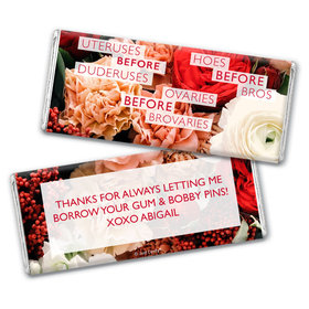 Personalized Valentine's Day Before Bros Chocolate Bar Wrappers Only