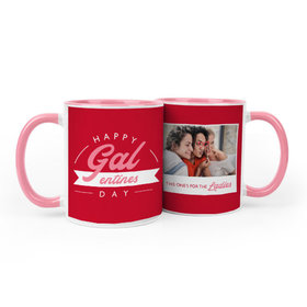Personalized Happy Galentines Day 11oz Mug Empty
