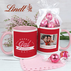 Personalized Happy Galentines Day 11oz Mug with Lindt Truffles