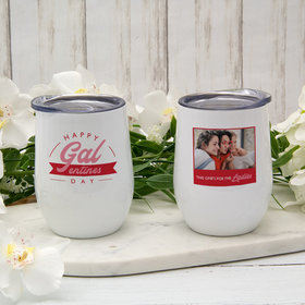 Personalized 12oz Wine Tumbler - Happy Galentine's Day