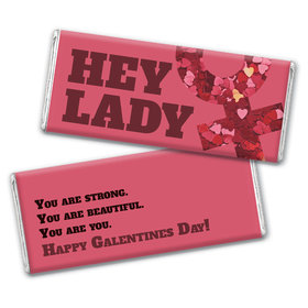 Personalized Valentine's Day Hey Lady Chocolate Bar Wrappers Only