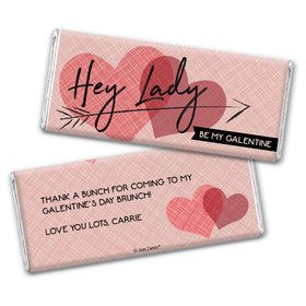 Personalized Valentine's Day Be My Galentine Chocolate Bar Wrappers Only