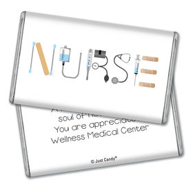 Personalized Nurse Appreciation First Aid Giant 1lb Hershey's Chocolate Bar