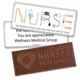 Personalized First Aid Kit Embossed Chocolate Bar