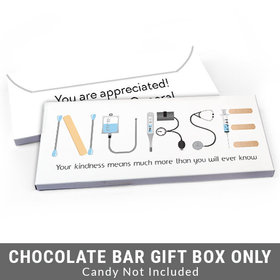 Deluxe Personalized First Aid Nurse Appreciation Candy Bar Favor Box