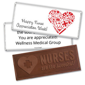 Personalized Heart of Healthcare Embossed Chocolate Bar