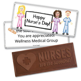 Personalized Scrubs Scribbles Embossed Chocolate Bar