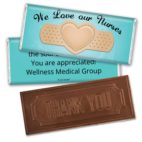 Nurse Appreciation Personalized Embossed Chocolate Bar Band Aid Heart