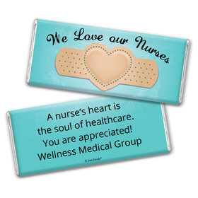 Nurse Appreciation Personalized Chocolate Bar Band Aid Heart