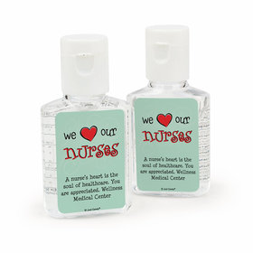 Personalized Nurse Appreciation Love Our Nurses Hand Sanitizer