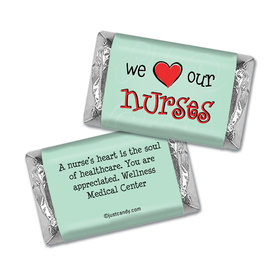 We Love Our Nurses Personalized Miniature Wrappers