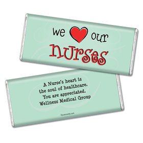 Nurse Appreciation Personalized Chocolate Bar We Heart Nurses