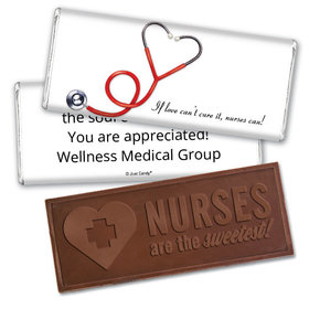 Personalized Heart-O-Scope Embossed Chocolate Bar