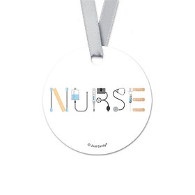 First Aid Nurse Appreciation Round Favor Gift Tags (20 Pack)
