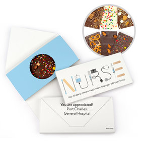 Personalized First Aid Nurse Appreciation Gourmet Infused Chocolate Bars (3.5oz)