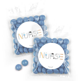 Personalized Nurse Appreciation First Aid Candy Bags with Just Candy Milk Chocolate Minis