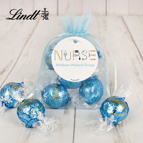 Personalized Nurse Appreciation Lindt Truffle Organza Bag- First Aid