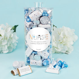 Personalized Nurse Appreciation First Aid Canister 2 lb - Hershey's Miniatures, Kisses and JC Peanut Butter Cups