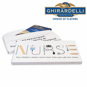 Deluxe Personalized First Aid Nurse Appreciation Ghirardelli Chocolate Bar in Gift Box