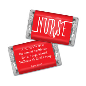 Personalized Nurse Pulse Hershey's Miniatures Assembled