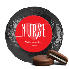 Personalized Nurse Appreciation Nurse Pulse Milk Chocolate Covered Oreo Cookies (24 Pack)