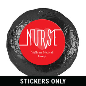 "Personalized Nurse Appreciation Nurse Pulse 1.25"" Stickers (48 Stickers)"