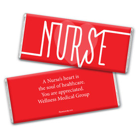 Personalized Nurse Pulse Chocolate Bar Wrappers