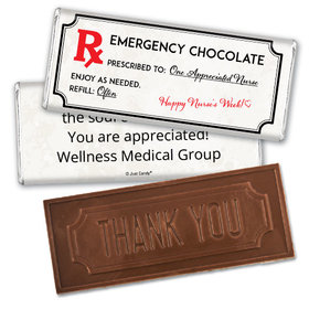 Personalized Emergency Chocolate Kit Embossed Thank You Chocolate Bar